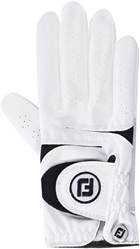 Footjoy WEATHERSOF Damen Golfhandschuh Linkshand (S, Weiß)