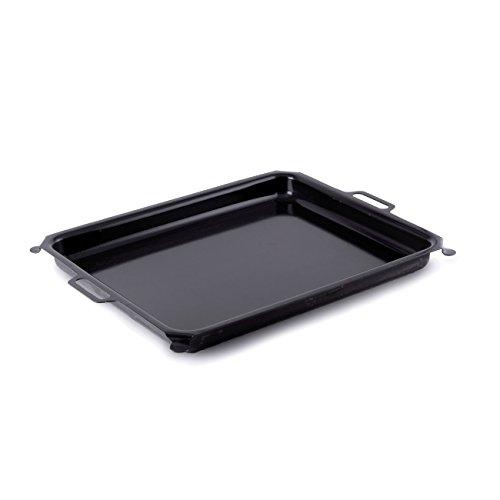 HENDI Grillpfanne emailliert, für U.a. HENDI Bake-Master 154618 und HENDI Grill-Master Quattro 154908, 650x450mm, Innenbereich 590x480mm, Schwarz
