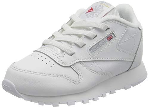 Reebok Unisex Baby Classic Leather Sneaker, Footwear White/Footwear White/Footwear White, 24.5 EU