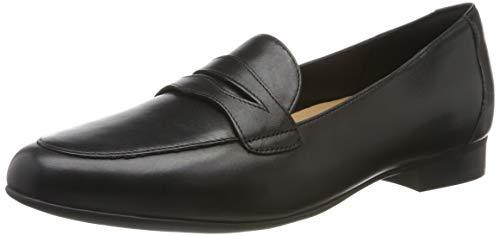 Clarks Damen Un Blush Go Slipper, Schwarz (Black Leather), 40 EU