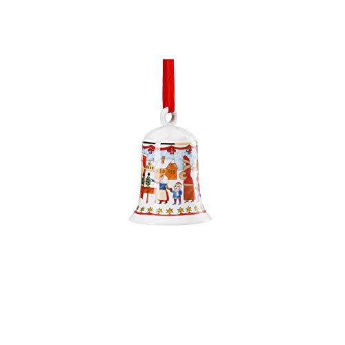 Hutschenreuther 12 cm Weihnachtsmarkt-limitiert auf 2.999 Exemplare Porzellanglocke, Porzellan, Bunt