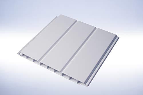 PVC-Paneele 4 qm | Wandverkleidung |Deckenverkleidung |Aussenbereich | weiß 200mm x 4000mm