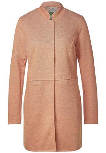 Street One Damen Jersey Mantel mit Piqué Soft Foxy Caramel Melange 34