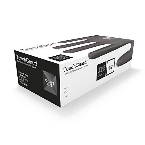 TouchGuard Black Einweg-Nitrilhandschuhe, Puderfrei und Latexfrei, Karton mit 100 Stück, Größe L