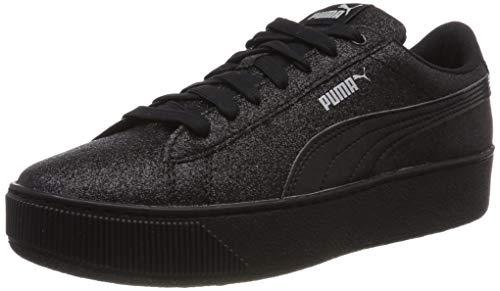 Puma Puma Vikky Platform Glitz Jr, Mädchen Sneakers, Schwarz (Puma Black-Puma Black), 37.5 EU