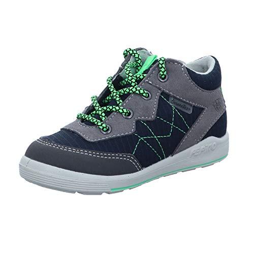 RICOSTA Kinder Lauflern Schuhe RAYK von Pepino, Weite: Mittel (WMS),wasserfest, schnürstiefelchen flexibel leicht,Nautic/Graphit,26 EU / 8 Child UK