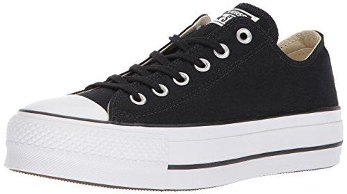 Converse Damen Ctas Lift OX Black/Garnet/White Sneaker, Schwarz (Black/Garnet/White 001), 40 EU