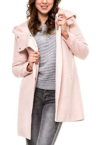 ONLY Damen Kurzmantel mit Kapuze Übergangsjacke (36 (Herstellergröße: S), Rose Smoke/Melange)
