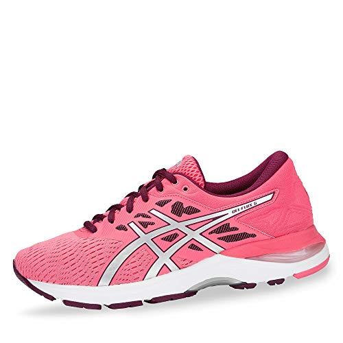 ASICS T861N-700 Gel-Flux 5 Damen Laufschuh aus Mesh mit Overlays Gel-Dämpfung, Groesse 38, pink/Silber