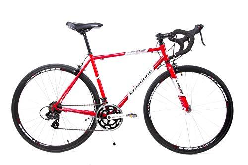 GIORDANO 28 Zoll Retro Rennrad Fahrrad Race Bike Shimano 14 Gang Stahl Rh 51cm rot