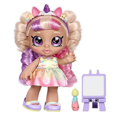 Kindi Kids Kleinkind-Puppe – Mystabella Einhorn Dress Up – Enthält 2 Outfits und Shopkins Zubehör