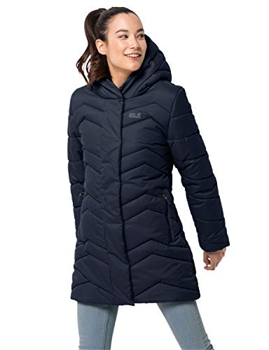 Jack Wolfskin Damen KYOTO COAT W winddichter Wintermantel, Midnight Blue, L