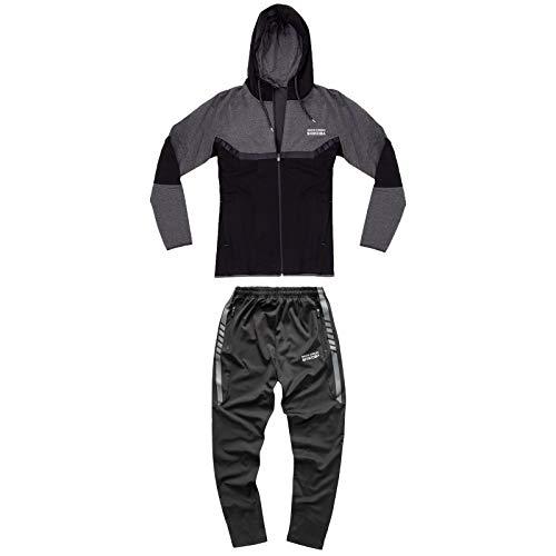 Rock Creek Herren Trainingsanzug Jogginganzug Sweatjacke Hose Fitnessanzug M14 [SH-05+SH-14 Dunkelgrau XL]