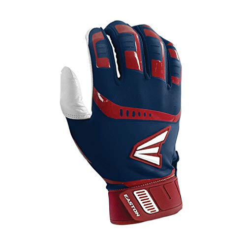 Easton Walk-Off Baseball-Handschuh, Herren, Walkoff Adult Batting Gloves, Navy/RED, Medium