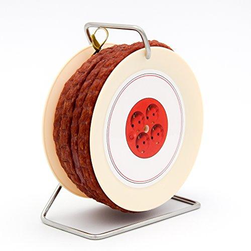 WURSTBARON® Wurst Kabeltrommel - 3,5 Meter Wurst nach Krakauer Art auf einer Mini Kabel-Trommel - 240 g