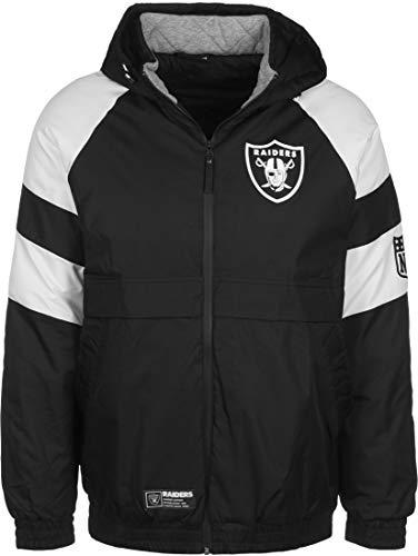 New Era NFL Oakland Raiders Puffer Winterjacke Herren schwarz/weiß, XL