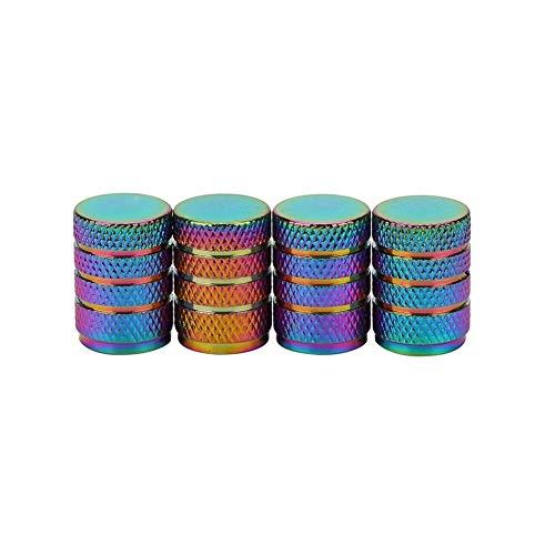 4PCS Farbe Aluminium Autoreifen Ventilkappen Kugelgranate Design Auto-LKW-Air-Anschlussabdeckung Reifenfelgenventil Radkappe Stem (Color : B)
