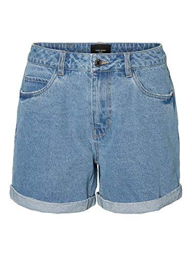 Vero Moda NOS Damen Shorts VMNINETEEN HR Loose Mix NOOS, Blau (Light Blue Denim), W(Herstellergröße: XS)