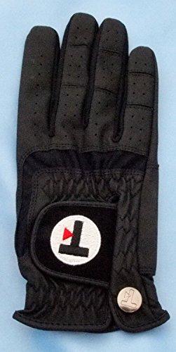 Top-Flite Damen Golf Handschuh für Linkshänder (rechte Hand) Farbe: Schwarz (L)