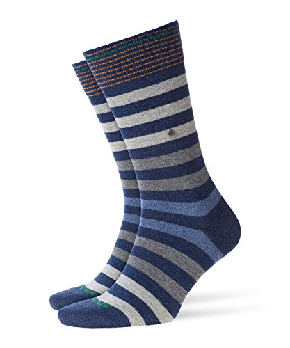 BURLINGTON Herren Socken Blackpool - 80% Baumwolle, 1 Paar, Blau (Dark Blue Melange 6688), Größe: 40-46