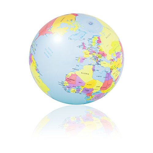 PI-PE Wasserball aufblasbar 29 cm Strandball Weltkugel Atlas Globus Wasserball - tolle Motive - 29 cm (Erde)