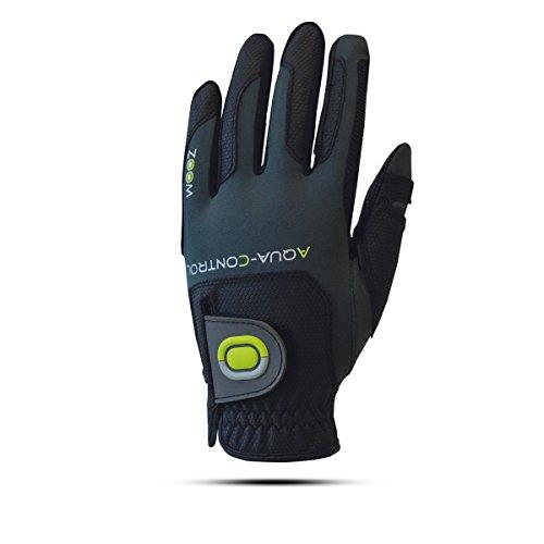 ZOOM Aqua Control Damen Regen Golfhandschuh - Linkshand für Rechtshänder (Black/Charcoal/Lime)