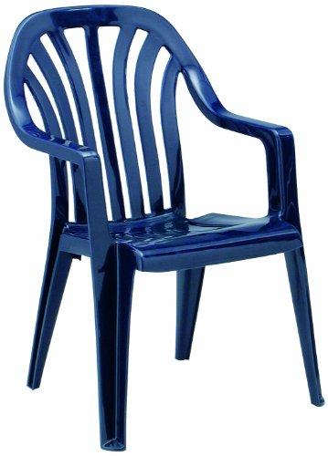 Best 18090920 Stapelsessel Laredo, blau