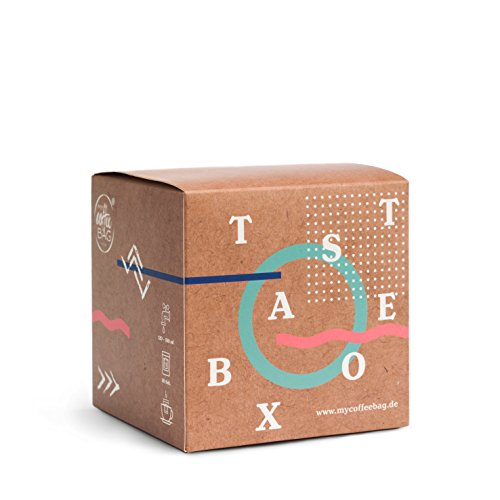 MyCoffeebag Taste-Box Kaffee Probierset | Filterkaffee zum Aufbrühen | 13 Coffeebags mit Arabica Bohnen aus aller Welt | Tolles Kaffee Geschenk