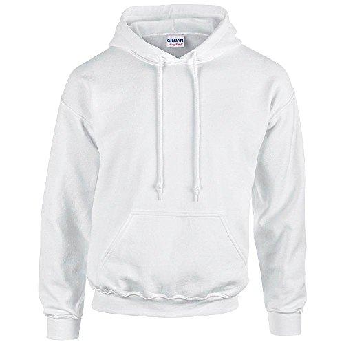 Gildan - Unisex Kapuzenpullover 'Heavy Blend' , White, Gr. XL