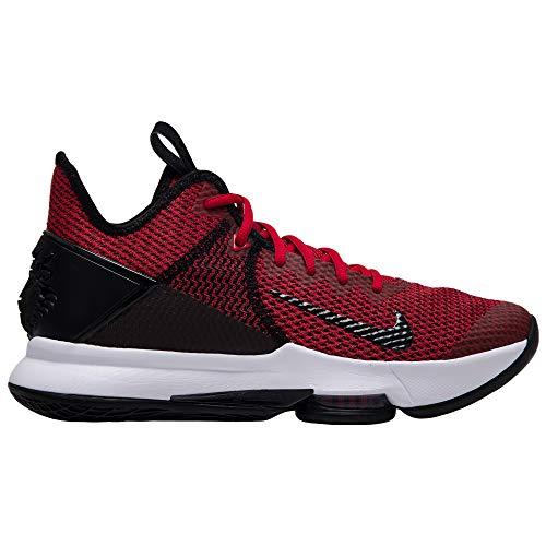 Nike Herren Lebron Witness IV Basketballschuh, Nero Black Gym Red Univ Red 002, 44 EU