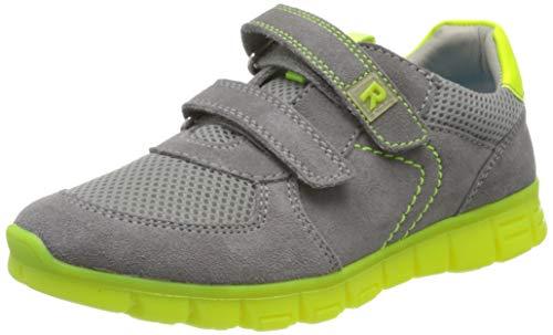 Richter Kinderschuhe Jungen Run Sneaker, Grau (Stone/Ash/Neonyellow 6601), 27 EU