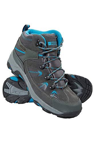Mountain Warehouse Rapid Wasserfeste Stiefel für Damen - Wanderschuhe aus Wildleder und Netzstoff, Schuhe, Wanderstiefel mit Gummilaufsohle - Für Reisen, Camping Blaugrün 37 EU