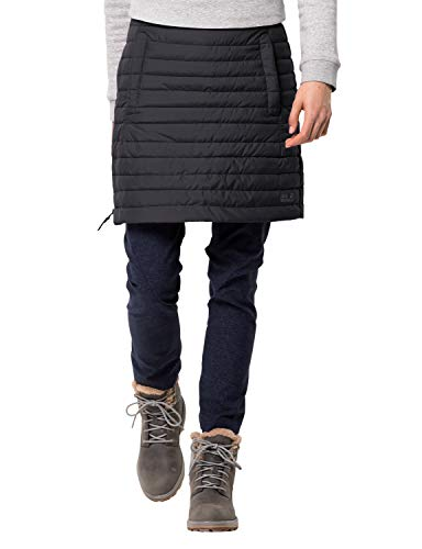 Jack Wolfskin Damen ICEGUARD Skirt Winterrock Wind-und wasserabweisend Rock, schwarz, S