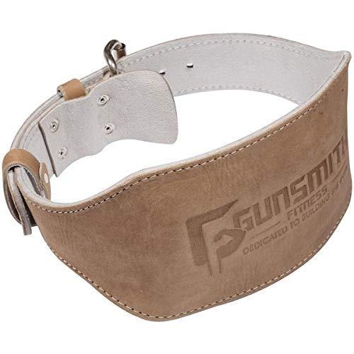 Gunsmith Fitness Shibusa 100% Echtleder Gewichtheber-GÜRTEL Gewichtheben Powerlifting & Bodybuilding für Fortgeschrittene Premium-Qualität individuell handgefertigt - 6 Inch 15,24 cm (XL)