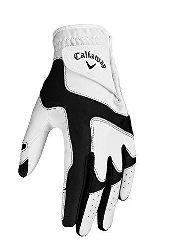 Callaway Damen Opti Fit Linkshänder Golfhandschuhe, Einheitsgröße, Weiß