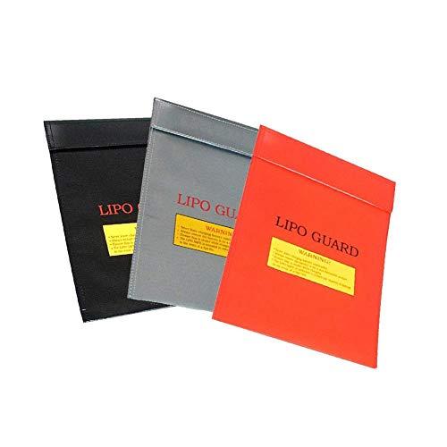 Leap-G Feuerfeste Dokumententasche, 3 Stück Feuerfeste Wasserresistente Tasche, Wasserdichte Dokumententasche Für Bargeld, Pass, Schmuck Und Andere Wertsachen (Zufällige Farbe)