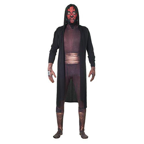 Morphsuits Offizielles Star Wars Darth Maul Kostüm Ganzkörperanzug Halloween Karneval - L (163cm-175cm)