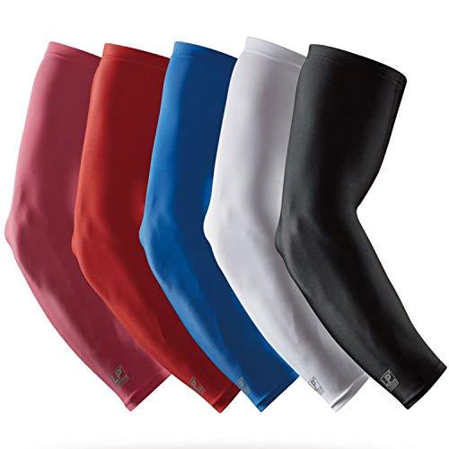 LP SUPPORT SL51 Performance Armstulpen, Arm-Sleeve, Ellenbogen-Schoner, Unterarm-Bandage, Power-Shooter, Sportstulpe, Größe:S, Farbe:2 x schwarz