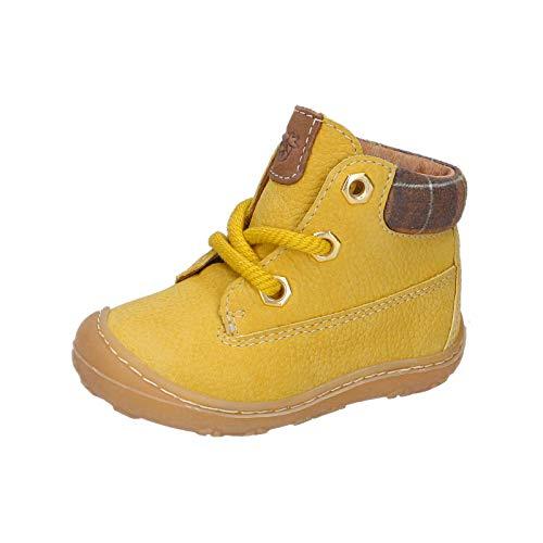 RICOSTA Unisex - Kinder Lauflern Schuhe Terry von Pepino, Weite: Mittel (WMS), schnürschuh schnürstiefelchen flexibel,senf,22 EU / 5.5 Child UK