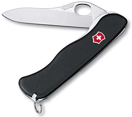 Victorinox Taschenmesser Sentinel One Hand (4 Funktionen, Grosse Einhand-Feststellklinge) schwarz