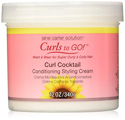 Jane Carter Curls to Go Curl Cocktail Cond.Stylig Cream 12oz
