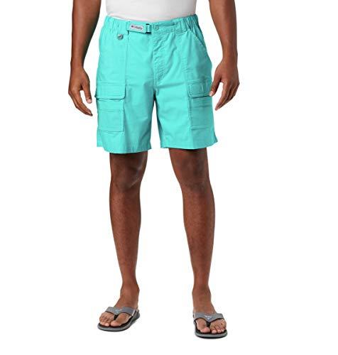 Columbia Herren Half Moon III Short UV Sonnenschutz Utility Pockets, Herren, Half Moon Iii Short, Bright Aqua, 3X x 8