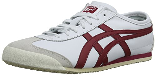 Onitsuka Tiger Mexico 66, Unisex-Erwachsene Low-Top Sneaker, Weiß (White/Burgundy 0125), 45 EU