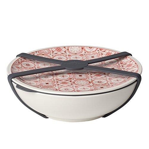 Villeroy & Boch - To Go Schale L, Aufbewahrungsbox für Essen, Premium Porzellan, rot, 800 ml, spülmaschinengeeignet