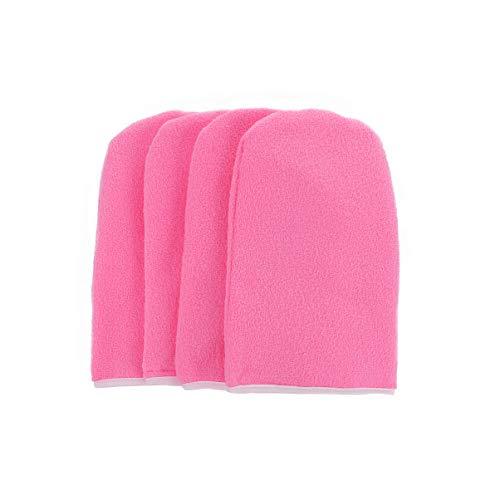 Beaupretty 2 Paar Paraffinhandschuhe Frottierhandschuhe Wachspflege Isolierte Handschuhe Baumwollhandschuhe für Paraffinbad (Pink)