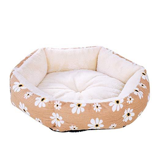 Fenverk Hundebett Haustierbett für Katzen und Hunde Rechteck Ultra Weicher Plüsch luxuriöse Haustier-Schlafsack Maschine waschbar(Yellow,M/43 x 41 x 20cm)
