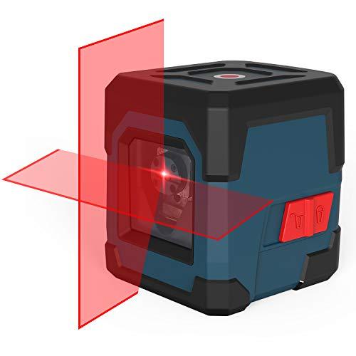 Kreuzlinienlaser, RockSeed LV1 Kreuzlinien-Laser mit Messbereich 15M, IP 54 Umschaltbar Selbstnivellierende Vertikale und Horizontale Linie, 360 Grad Drehbar inklusive Batterie