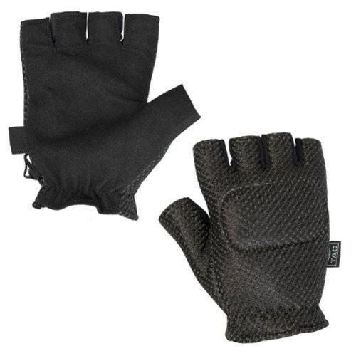 Valken Paintball TAC Half Finger Gepolsterte Handschuhe–Schwarz–XL