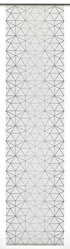 GARDINIA Flächenvorhang Dekor Wire (1 Stück), Schiebegardine, Blickdicht, Stoff Digitaldruck, 60 x 245 cm (BxH), Weiß/Anthrazit