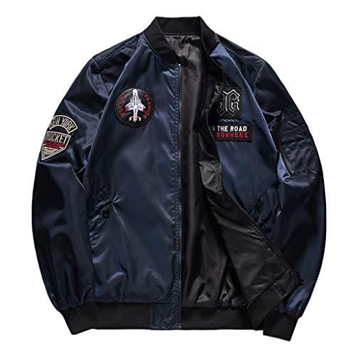 Aoogo Herren Winter Warm Lässige Mode Reine Farbe Jacke Reißverschluss Outwear Coat Tops Männer Lässige Oversize Mantel Outdoor Jacke Streetwear Sweatjacke Sweatshirt